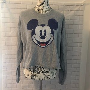 Disney Mickey Mouse shirt gray LS